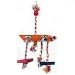 JUNGLEWOOD ROPE CHIME WITH 1 LARGE RECTANGULAR 81132