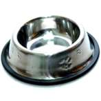 STEEL BOWL WITH PAW (X-SMALL) 4oz YE73607XS
