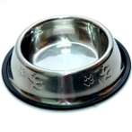 STEEL BOWL WITH PAW (MEDIUM) 12oz YE73607M