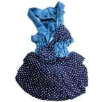 DOT DRESS WITH BOW KNOT (BLUE) (MEDIUM) SS0DR002DBLM