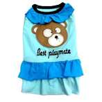 BEST PLAYMATE DRESS (BLUE) (SMALL) SS0DR001HBLS