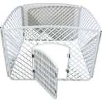 PLASTIC PLAYPEN (4 PANELS) (WHITE) JNP161WT