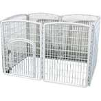 PLASTIC PLAYPEN (6 PANELS) (WHITE) JNP206