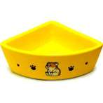 TRIANGLE SMALL ANIMAL BOWL (YELLOW) BW/M-A731YL