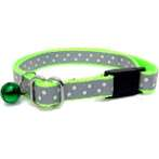 CAT COLLAR - DOTS (LIME) BW/NYCR10RGLM
