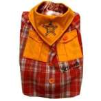 COWBOY - SHERIFF (ORANGE / RED CHECKED) (4) PT041-4