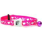 CAT COLLAR WITH LOVE (PINK) BW/SCCLOVEPK