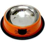 STAINLESS STEEL BOWL (ORANGE) YE78137OR