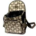 BACKPACK - POLYESTER WITH POKADOT (GREEN) ASD042033C