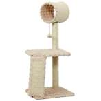 CAT TREE 3 TIER WITH TUNNEL & TOY(BEIGE) YS89262