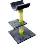 CAT TREE 3 TIER WITH 2 REST & TOY (DARK GREY) YZJS145647