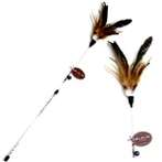 CAT TEASER - FEATHER (BROWN) BWAT3656