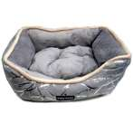 SUEDE PET BED (DARK GREY) (MEDIUM) YF91237GYM