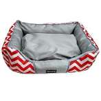 PET BED - ZIGZAG (RED) (LARGE) YF91348RDL