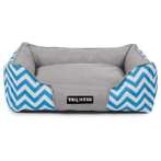 PET BED - ZIGZAG (BLUE) (MEDIUM) YF91348BUM