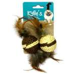 (KYLIES) NATURAL PACK BALL & FEATHER (2pcs) (5cm) IDS0WB15467
