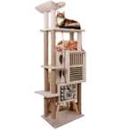 CAT TREE 5 TIER WITH 2 BOX HOME & REST YS93148