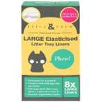 ELASTICISED LITTER TRAY LINERS LARGE (8pcs) RFC0ELTLL8