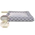 RECTANGLE PET BED - CHECKED (GREY) YF95522GYL