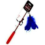 CAT TEASER-GOOSE FEATHER (BLUE) BWAT3672