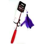 CAT TEASER-GOOSE FEATHER (PURPLE) BWAT3674