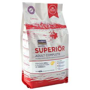 fish for dogs superior regular kibble 1.5kg complete adult dog food